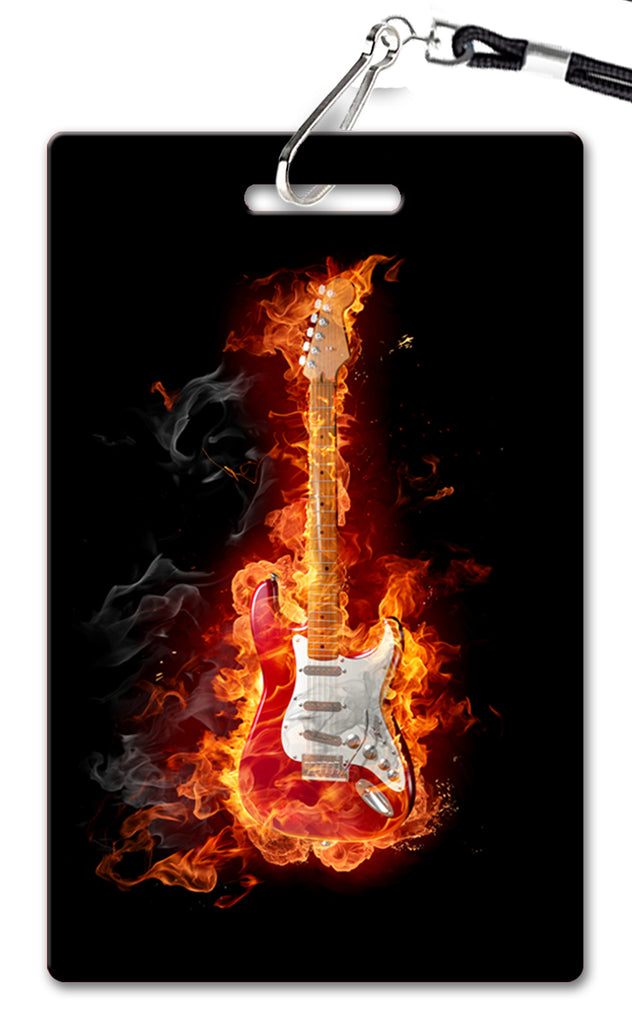Guitar on Fire Birthday Invitation