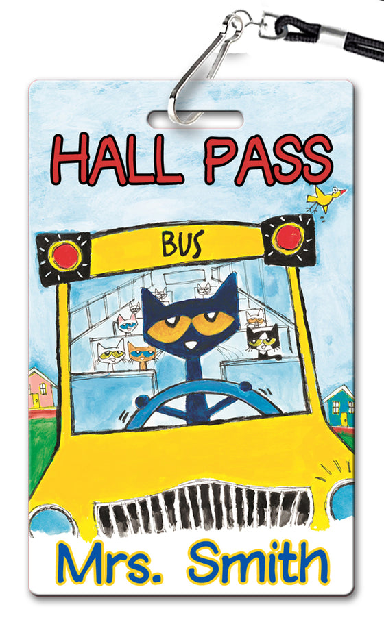 Pete the Cat Theme Hall Passes (Set of 10)