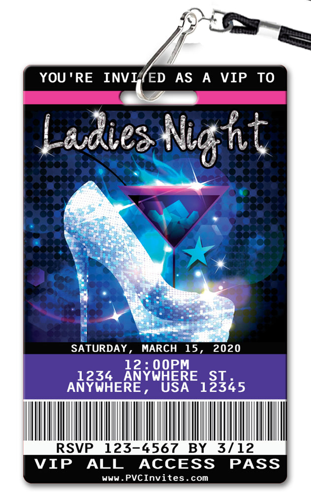 Ladies Night Birthday Invitation