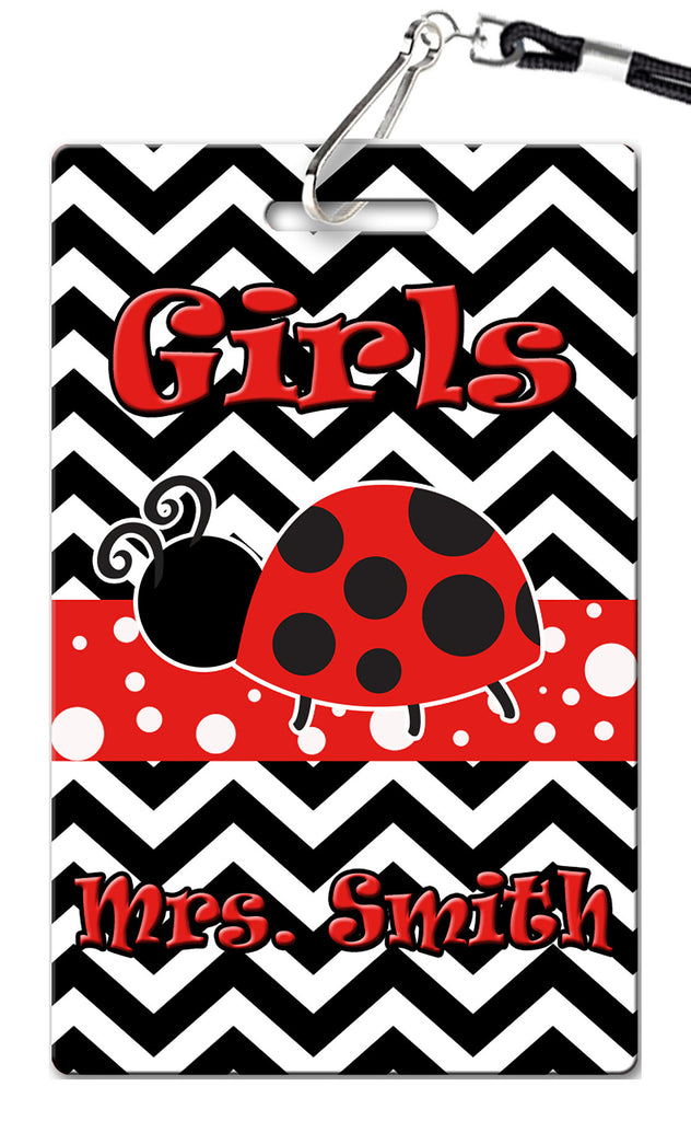 Ladybug Theme Hall Passes (Set of 10)