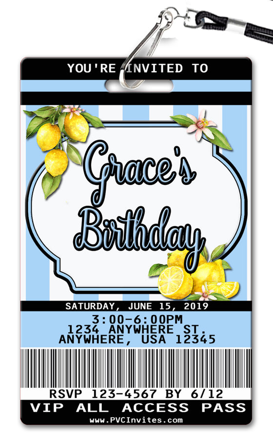 Lemons Birthday Invitation