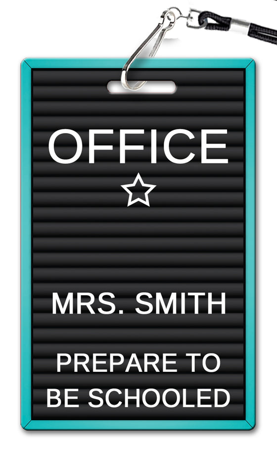 Letterboard Hall Passes (Set of 10)