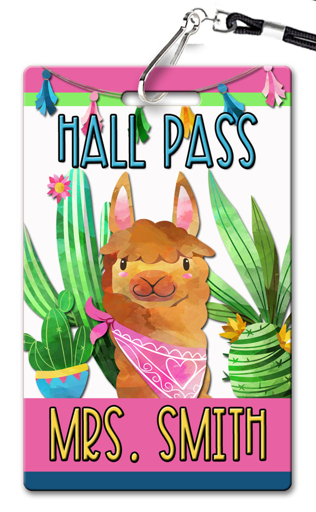 Llama Theme Hall Passes (Set of 10)