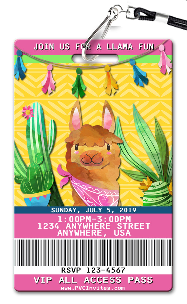 Llama (v2) Birthday Invitation