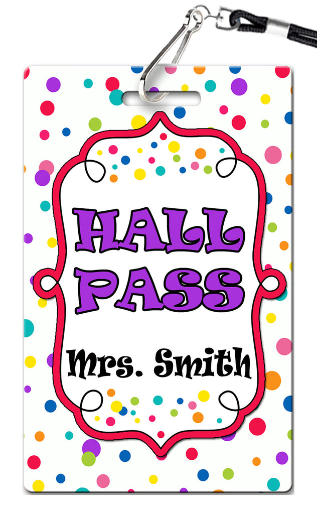 Dots Hall Passes (Set of 10)