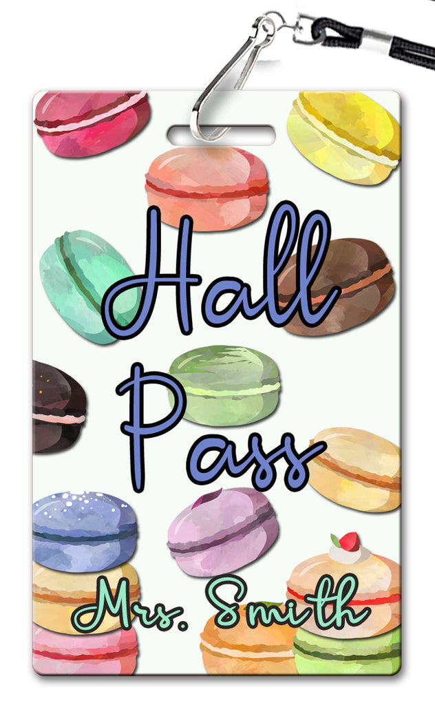 Macarons Hall Passes (Set of 10)