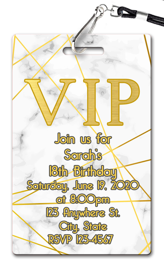 Marble Birthday Invitation
