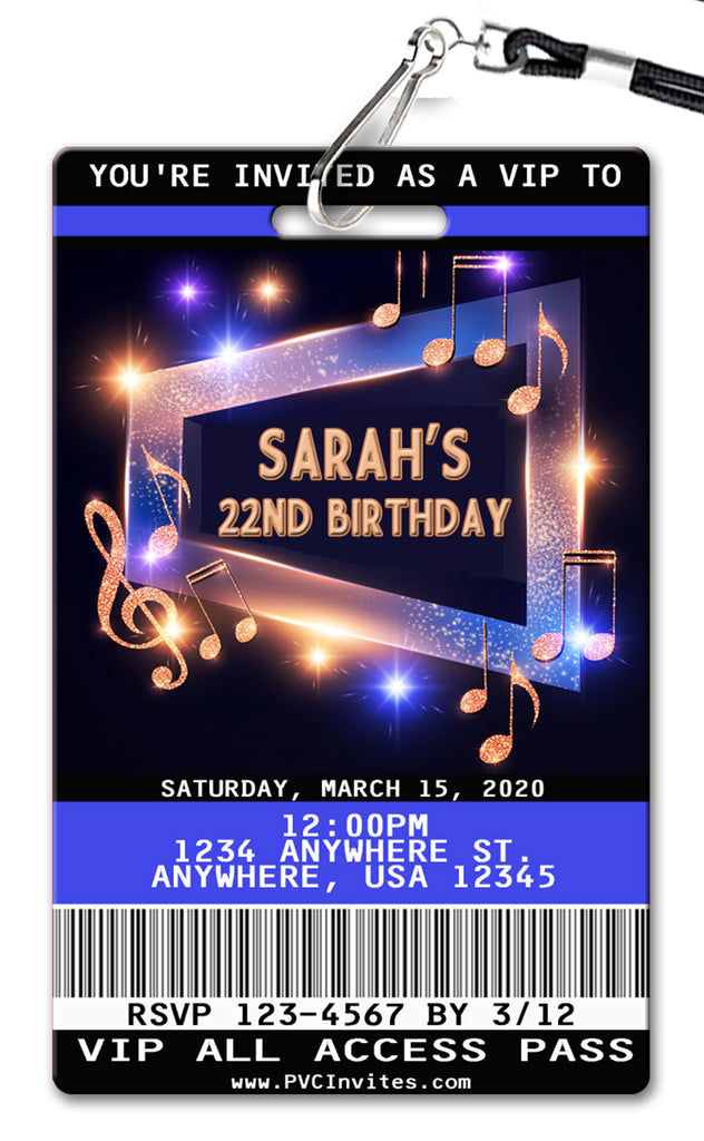 Music Birthday Invitation