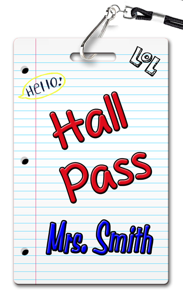 Notebook Hall Passes (Set of 10)