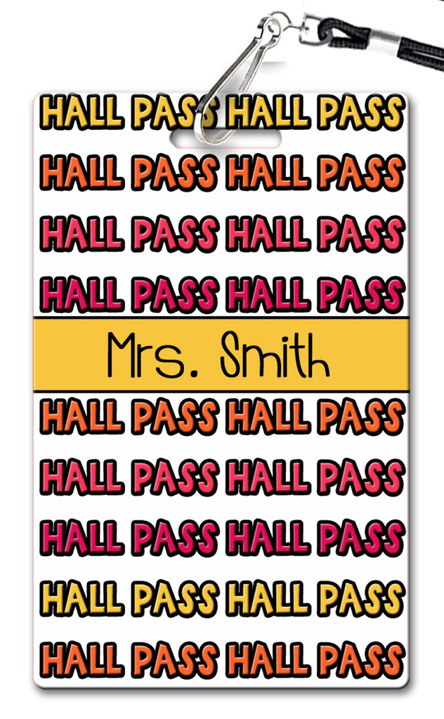 On Repeat Hall Passes (Set of 10)