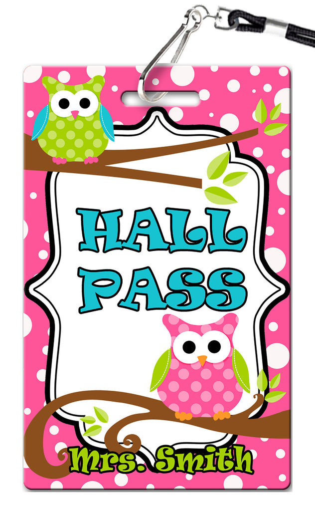 Owl Hall Passes (Set of 10)