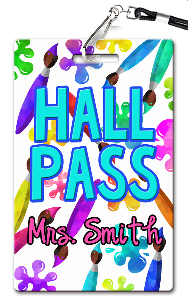 Paint Hall Passes (Set of 10)