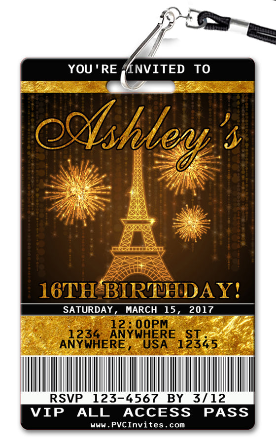 Paris Birthday Invitation