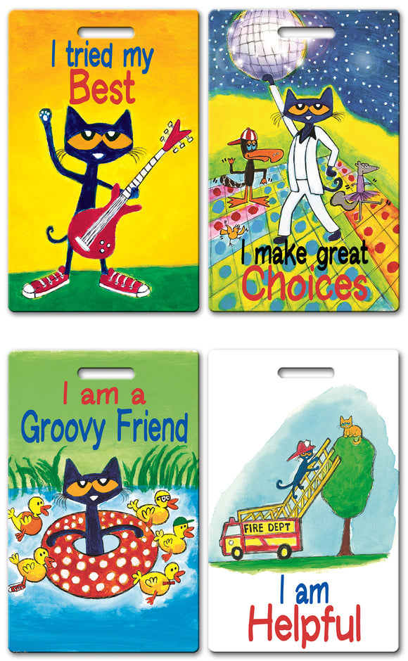 Pete the Cat Theme Brag Tags (Set of 8)