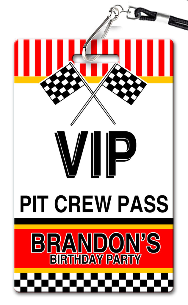 Pit Pass Birthday Invitation