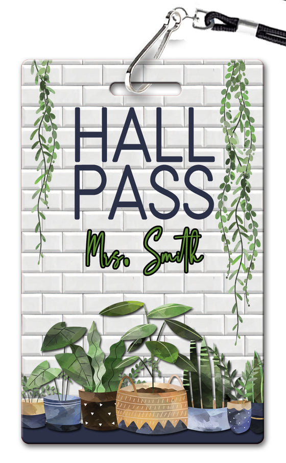 Plants Hall Passes (Set of 10)