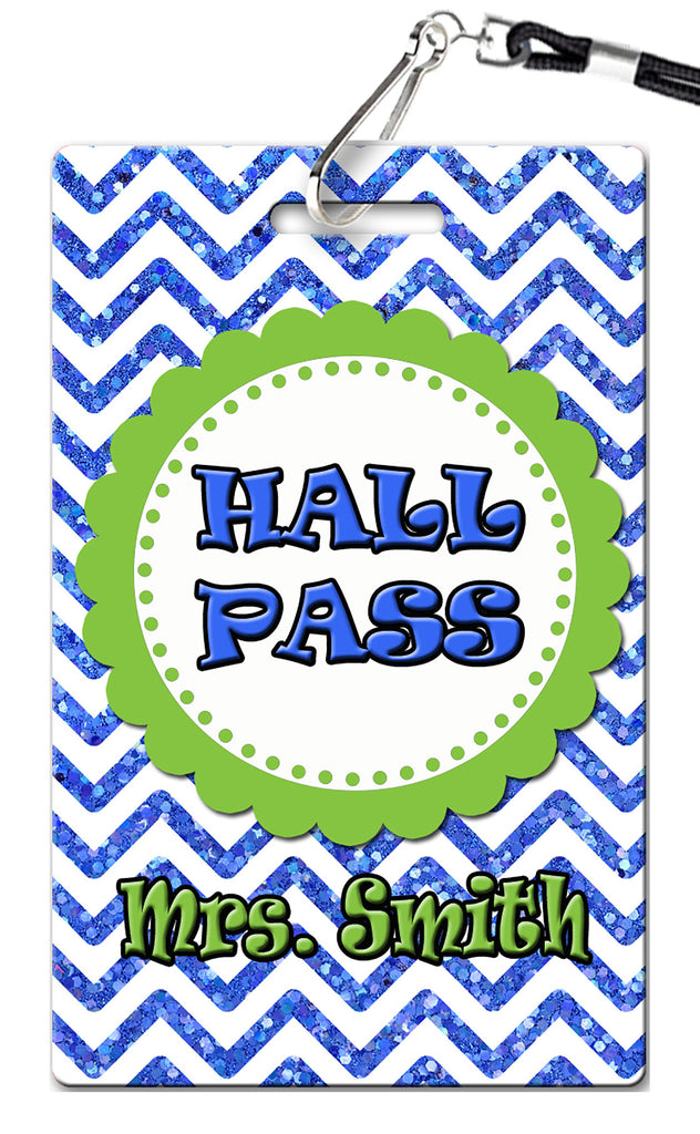 Preppy Chevron Hall Passes (Set of 10)