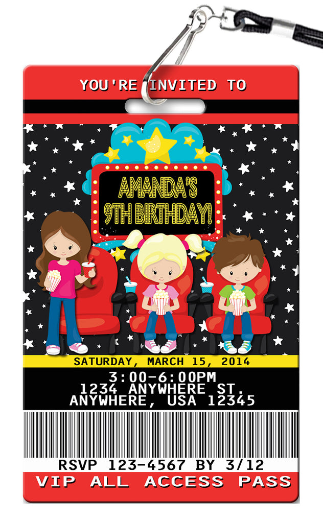 Movie Birthday Invitation
