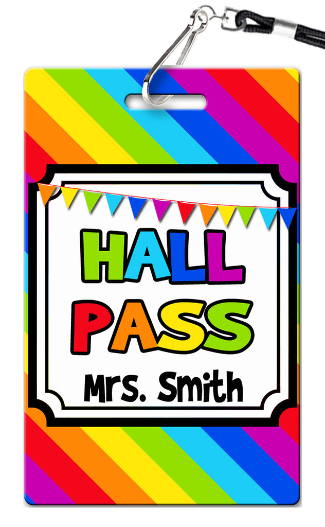 Rainbow Theme Hall Passes (Set of 10)