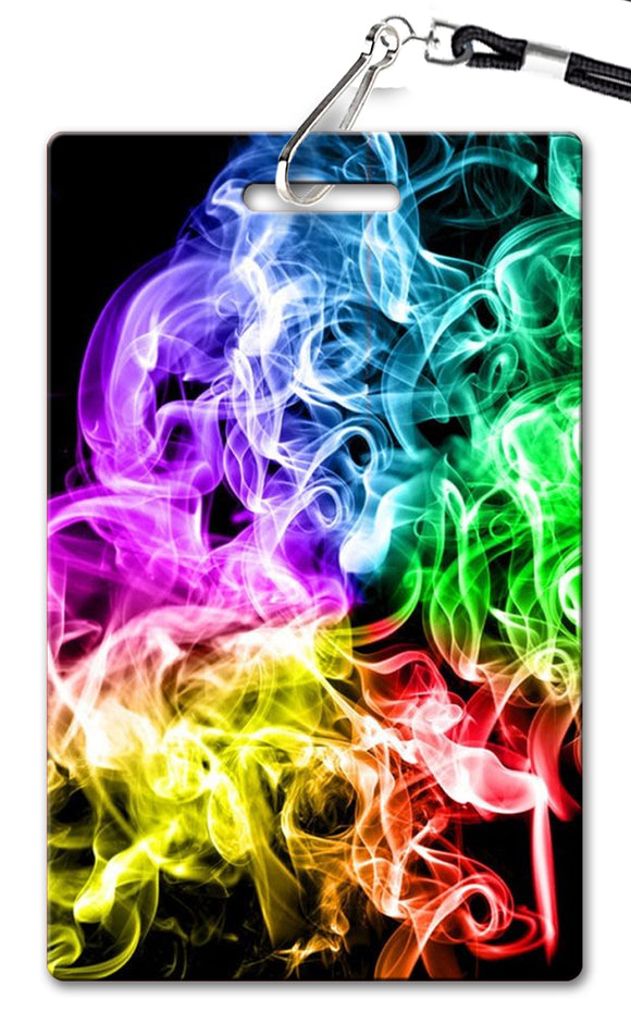 Rainbow Smoke Birthday Invitation