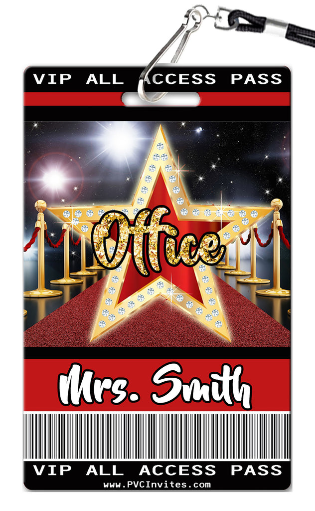 Red Carpet Hall Passes (Set of 10)