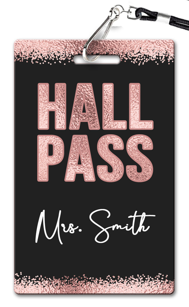 Rose Gold Hall Passes (Set of 10)