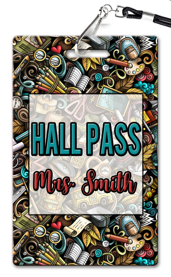 School Doodles Hall Passes (Set of 10)