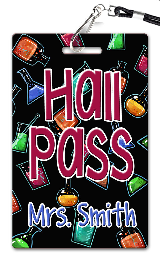 Science Beakers Theme Hall Passes (Set of 10)