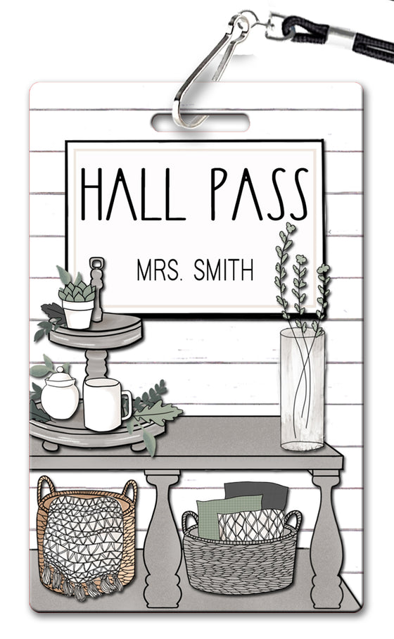Shabby Chic Hall Passes (Set of 10)