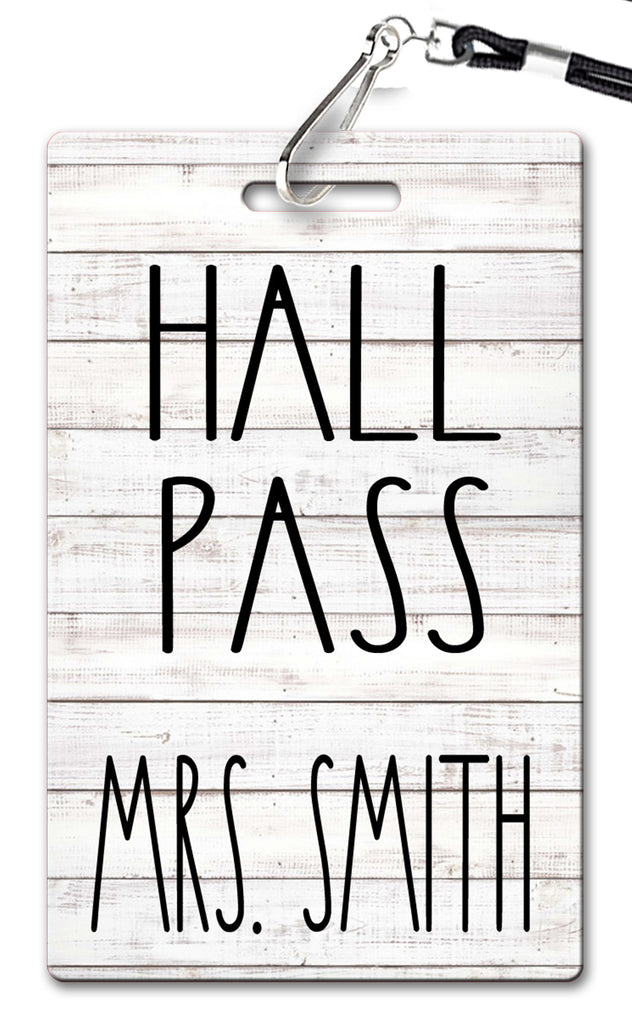 Simple Shiplap Hall Passes (Set of 10)