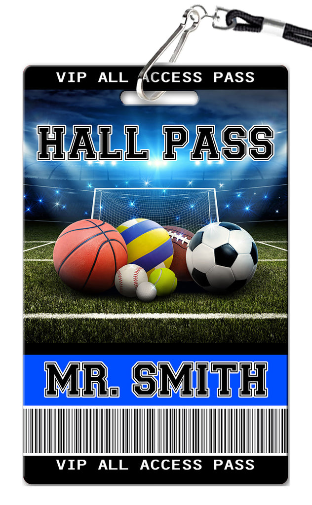 Sports Theme Hall Passes (Set of 10)
