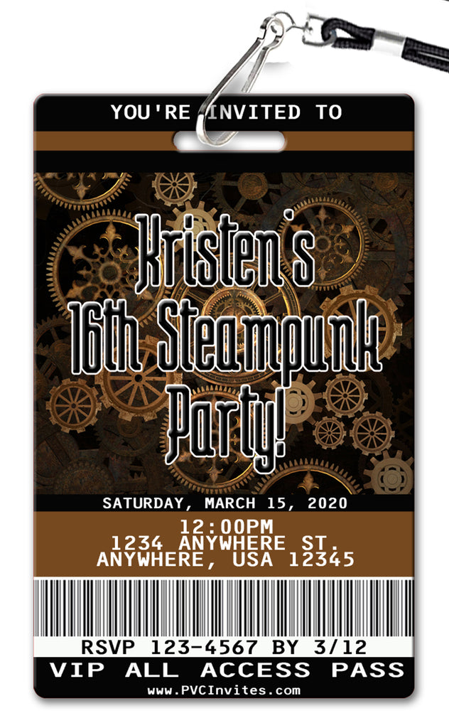 Steampunk Birthday Invitation