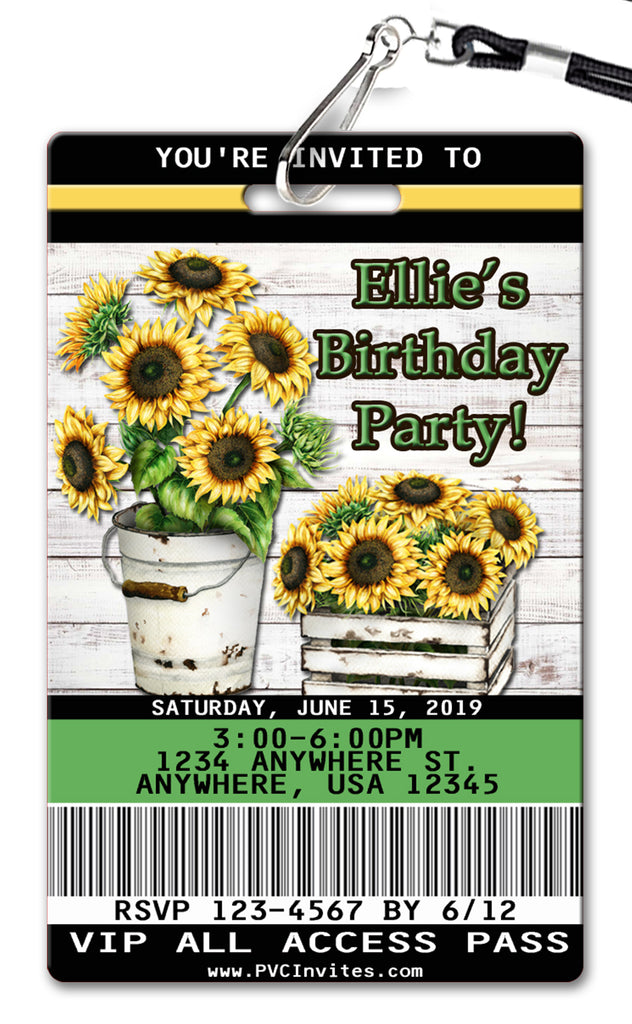 Sunflower Birthday Invitation