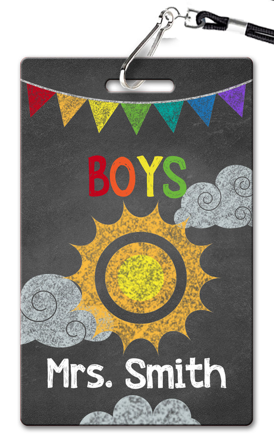 Sunshine Chalkboard Hall Passes (Set of 10)