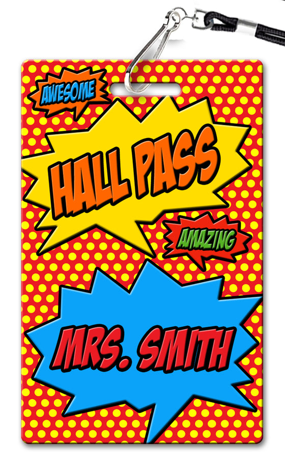 Superhero (v2) Hall Passes (Set of 10)