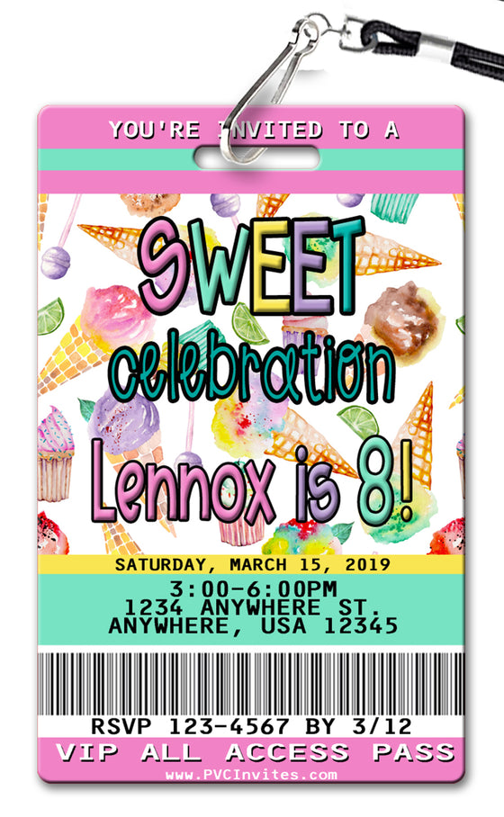 Sweet Treats Birthday Invitation
