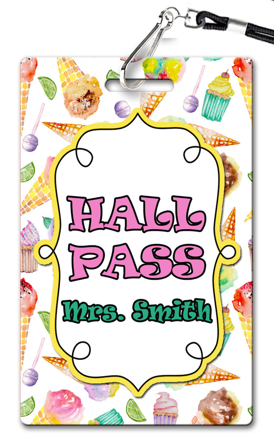 Sweet Treats Theme Hall Passes (Set of 10)