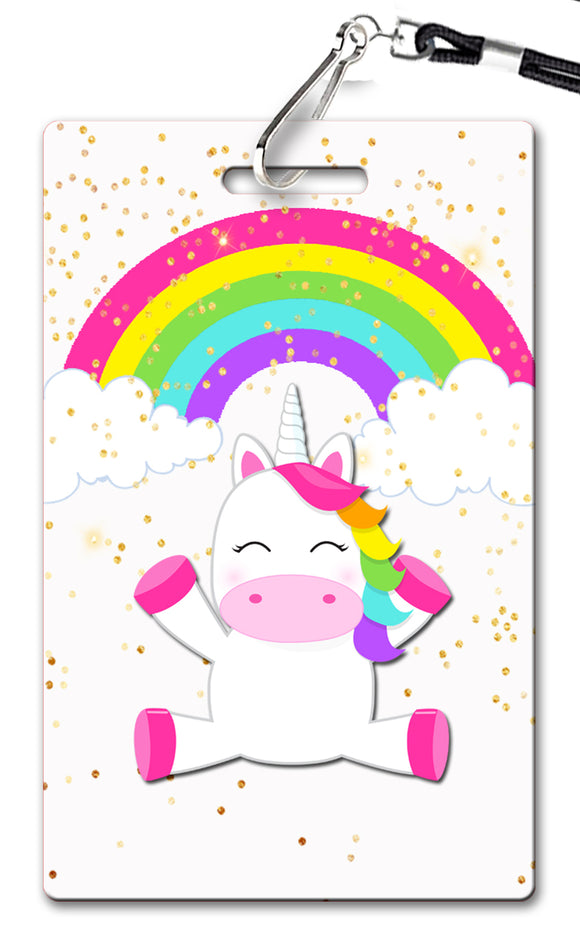 Unicorn Rainbow Birthday Invitation