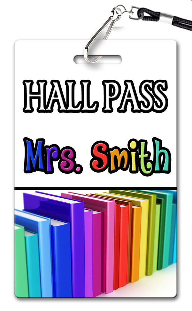 Books Hall Passes (Set of 10)
