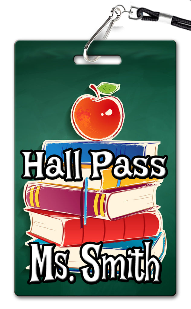 Stack of Books Theme Hall Passes (Set of 10)