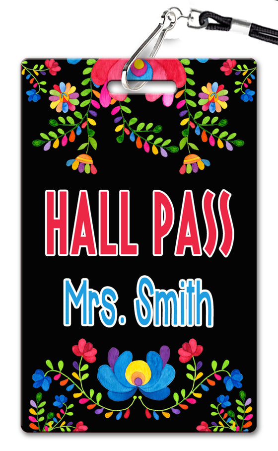 Fiesta Flowers  Hall Passes (Set of 10)