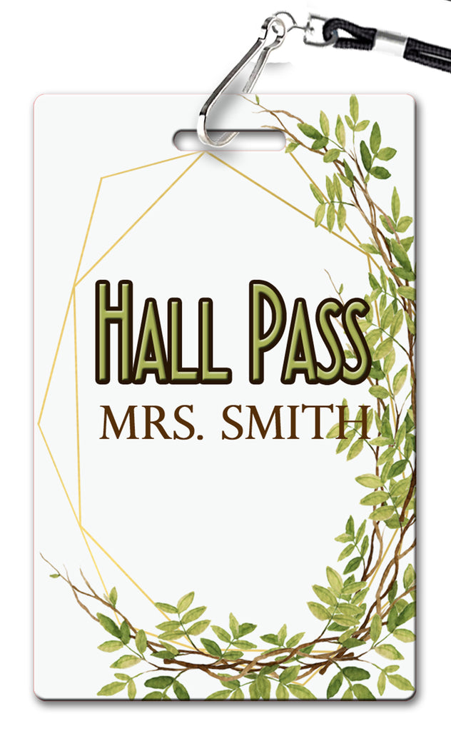 Geometric Greens Hall Passes (Set of 10)