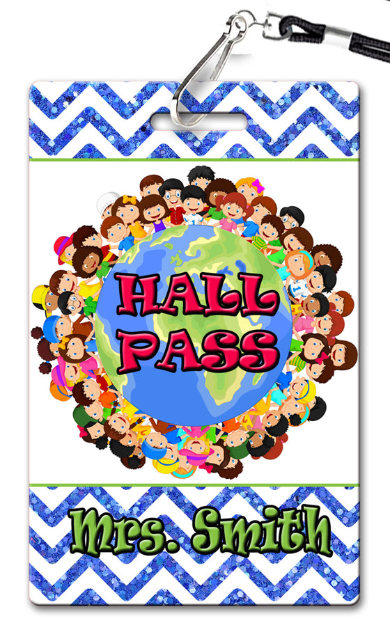 It's A Small World Theme Hall Passes (Set of 10)