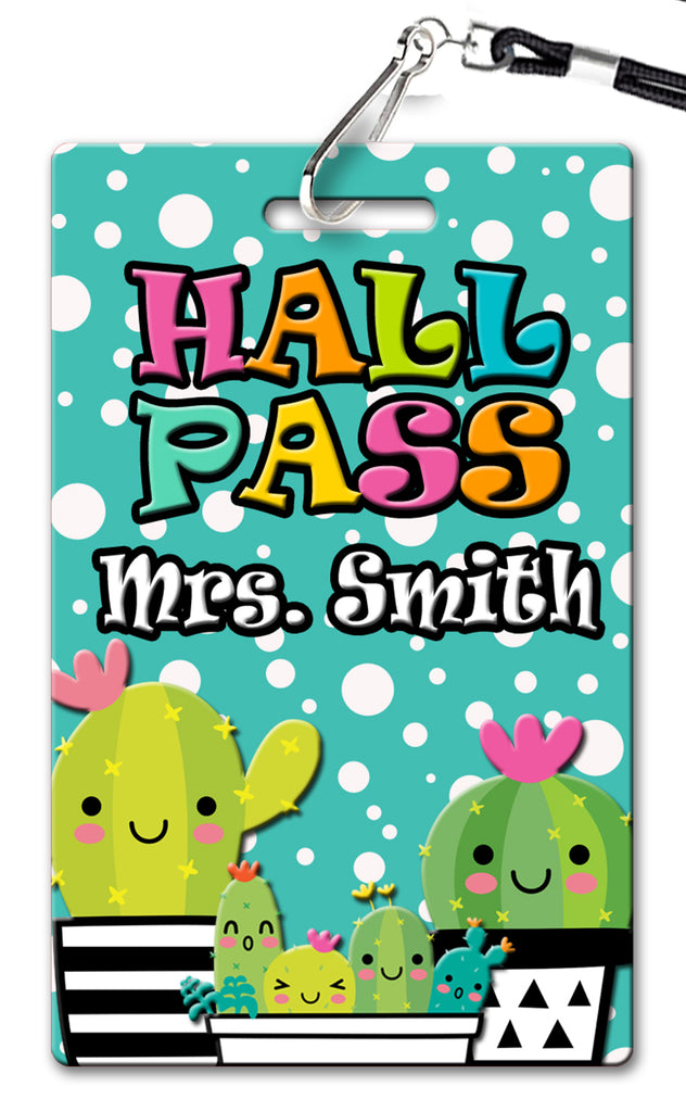 Cactus Theme Hall Passes (Set of 10)