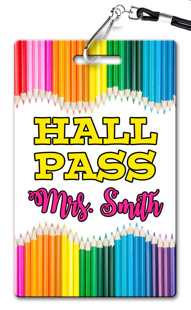 Pencil Theme Hall Passes (Set of 10)