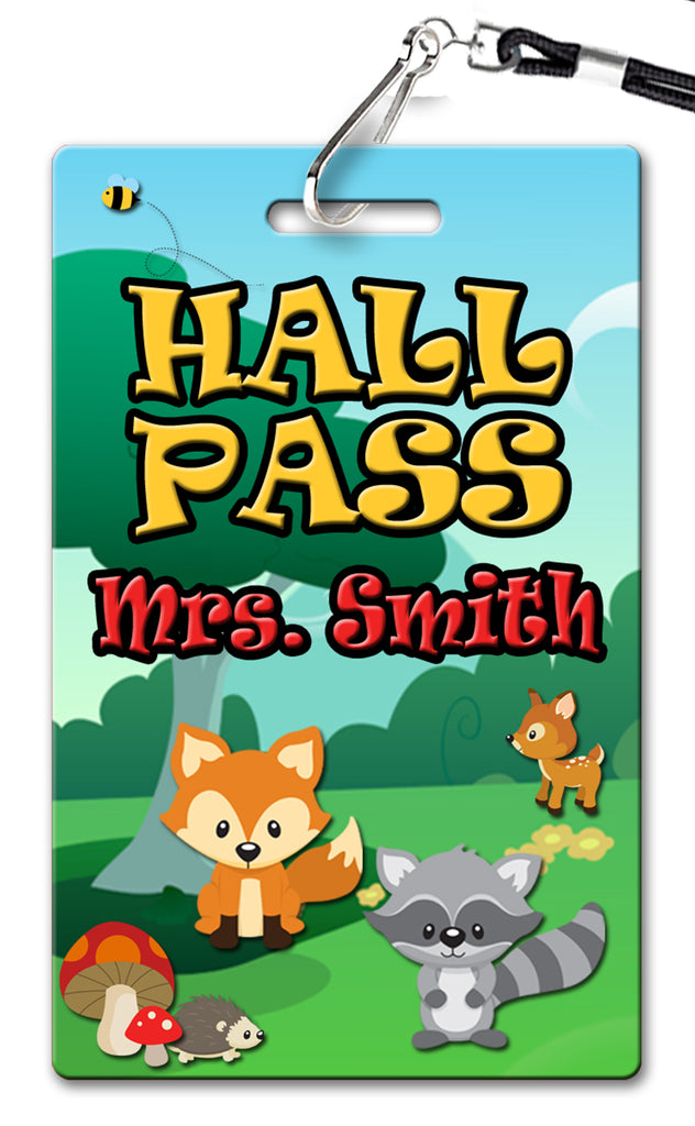 Woodlands Theme Hall Passes (Set of 10)