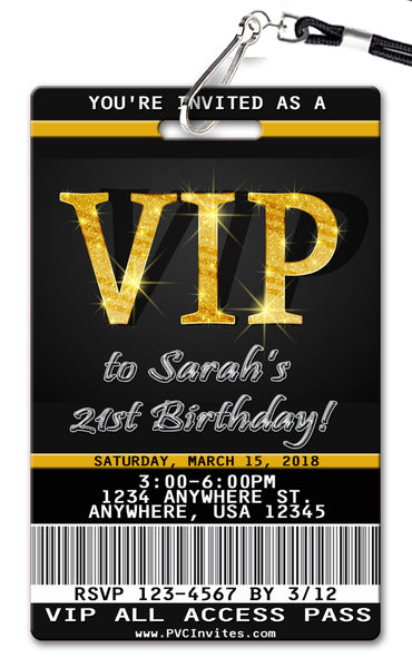 Vip Pass VIP Pass Birthday Invi...