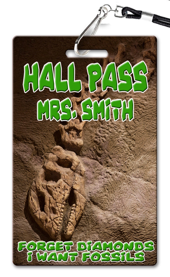 Dinosaur Fossil Hall Passes (Set of 10)
