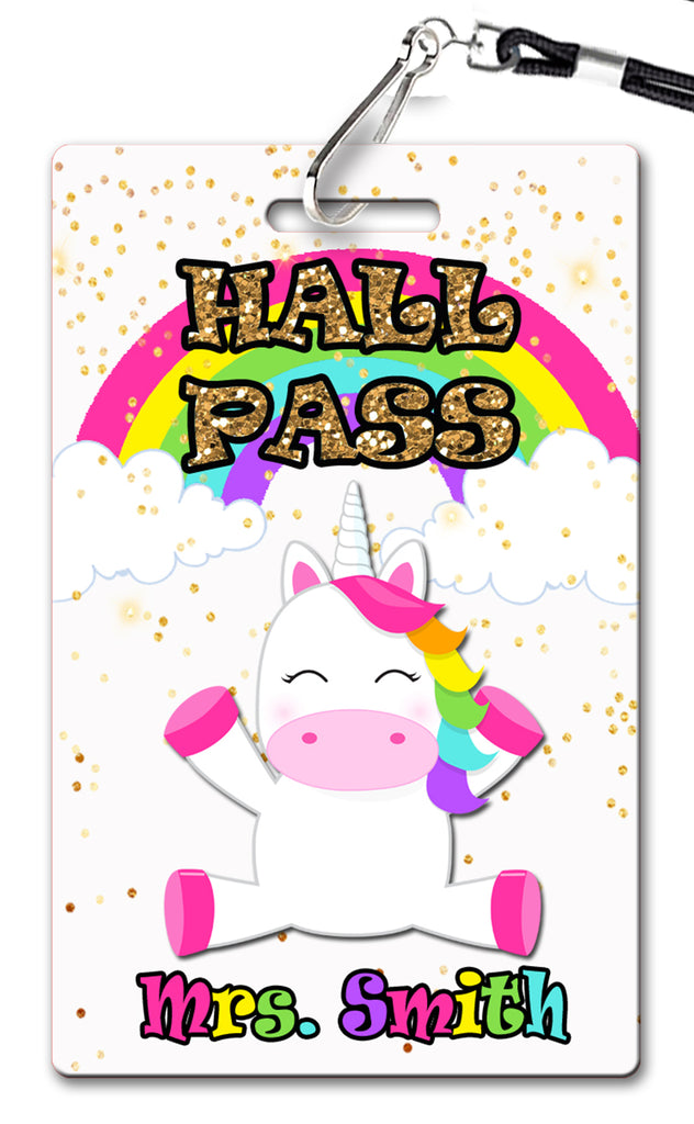 Rainbow Unicorn Hall Passes (Set of 10)