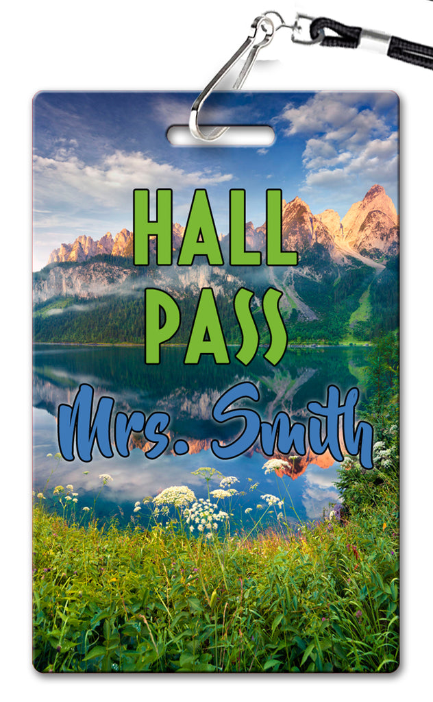 Mountain Theme Hall Passes (Set of 10)